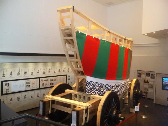 復元途上の大船鉾の屋形