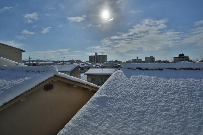 自宅からの雪景色